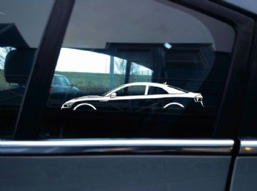 2X Car silhouette stickers - for Audi A5 B9 2-door coupe